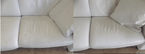 Leather Cleaning Before and After - Prestige Cleaning Services
