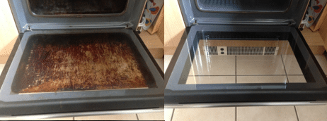 Oven Cleaning Before and After - Prestige Cleaning Services