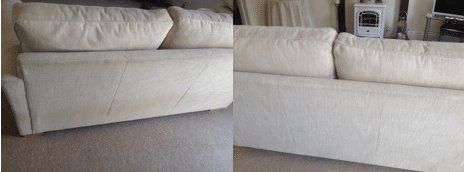 Upholstery Cleaning Before and After - Prestige Cleaning Services
